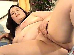 Chubby girl sucks appetizing cock