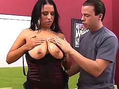 Hot latin busty mature seduces dude