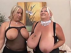 Chubby mom seduces busty cute chick