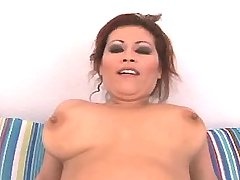 Chesty redhead plumper rides cock