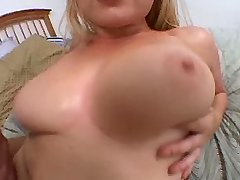 Chesty blonde beauty fucks with guy