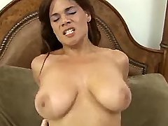 Nice busty brunette chick cockrides