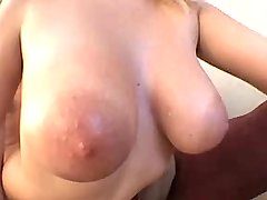 Hot chesty blond babe jumps on dick