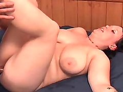 Busty fatty likes to fuck on a bed