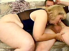 Splendid chubby gal frisking in bed