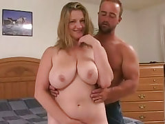 Wild stud pounds hungry fat bitch