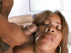 Large woman sucks dick and fucks guy