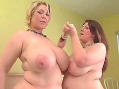 Sex of two tremendous fat lesbians